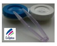 1 X Contact Lens Storage Case & Lavender Lens Tweezers