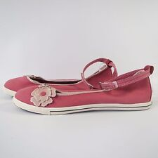 Women Girl CONVERSE All Star PINK ANKLE SKIMMER SLIP ON Shoes Trainers SIZE UK 3
