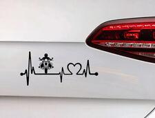 Pegatinas motocicleta cardíaco auto Motorsport sticker Chopper Biker Inside JDM