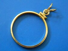 14K SOLID YELLOW   Gold Screw-Top  Coin Bezel - 22 mm