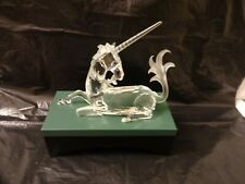 SWAROVSKI CRYSTAL FABULOUS CREATURES 1996 THE UNICORN WITH DISPLAY STAND