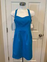 Nanette Lepore Electric Blue Textured Sweetheart Neckline Dress, Size 6 (US)