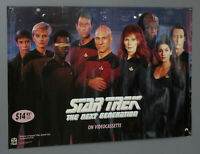 1991 Star Trek The Next Generation TNG 39 1/2 x 27 inch video store promo poster