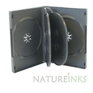 5 x 6 way 20mm Spine Black storage Flip cases for CD / DVD / Blu ray disc - NEW