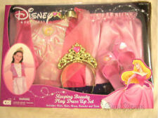 Disney Princess Aurora Sleeping Beauty Girls Dress Up Costume Crown Shoes Gown