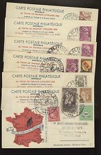 FRANCE SPORTS CYCLING SET OF 21 POSTCARD TOUR DE FRANCE 1948 BEAUTIFUL FRANKING