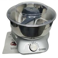 Cook's Companion 600W 5QT Multifunctional Open Mixer Silver Base CCDML3 & Manual