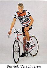 CYCLISME carte cycliste PATRICK VERSCHUEREN équipe VAN DE VEN ROLAND 1986