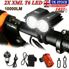 5000lm 2x XML T6 LED SolarStorm Front Bicycle Light Bike Headlight Lamp 4 Modes