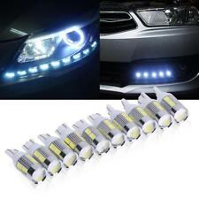10 x Car LED Light T10 501 194 W5W 10 SMD 5630 Canbus Error Free Wedge Lamp Bulb
