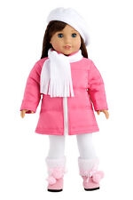 Parisian Adventure - 18 inch Doll Clothes, Coat Beret Scarf Leggings Boots