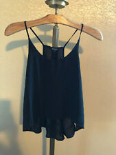 black semi sheer spaghetti strap AMBIANCE  tank top blouse shirt size medium