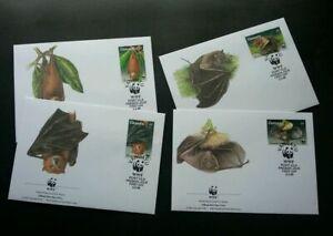 [SJ] Vanuatu WWF Bats 1996 Wildlife Fauna (stamp FDC)