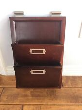 Pottery Barn Bedford Daily Organizer Office Mail Sorter Letter Wall Pocket Wood