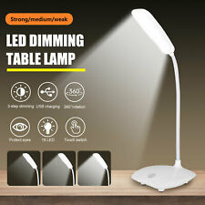 USB Rechargeable Dimmable LED Desk Light Touch Sensor...