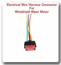 5 Wire Harness Pigtail Connector For Windshield Wiper Motor Fits: Ford