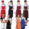 Women Men Waterproof Kitchen Apron Chef Butcher Cooking Baking 2 Front Pockets