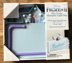 Frozen 2 Dry Erase Marquee Light Box Ana And Elsa Disney message, drawing board