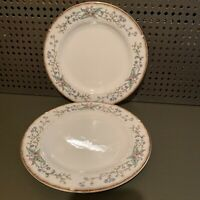 FARBERWARE WELLESLEY FLORAL FINE CHINA SALAD PLATES, set of 2