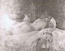 Hendrickson Original Photo B&W Beautiful Lady Sleeping Butt Naked 10x13