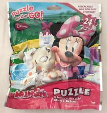 New Disney Minnie Mouse Jigsaw On The Go Pouch