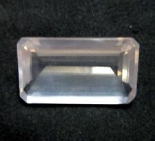 38.50Ct Natural Baby Pink Color Rose Quartz Gemstone 30x17mm Emerald Cut S721