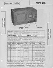 1948 6-66A SPARTON RADIO SERVICE MANUAL PHOTOFACT SCHEMATIC DIAGRAM TUBE 666A
