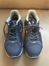 Ladies Under Armour Gray and Purple Assert 6 Tennis Shoes. Size 10.