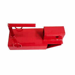 ALEKO Clamp On Forklift Hitch Receiver Towing Adapter - 2 inches - Red