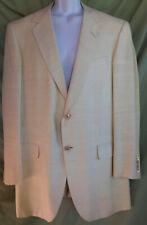 OXFORD CLOTHES Neiman Marcus Pure Silk Cream Sport Coat Blazer 42L Gibbons