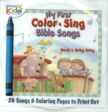 NEW CD Noah's Arky 20 Sing a long Song My First Kids Childrens BIBLE COLOR pages