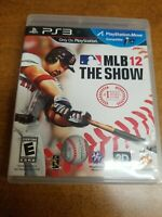 MLB 12: The Show (Sony PlayStation 3, 2012)(Complete)(Tested)