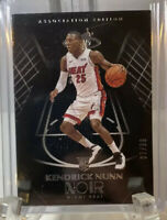 2019-20 NOIR Kendrick Nunn Rookie Association Base 7/99 Super Low #!! Miami Heat
