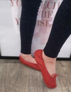 Roch Valley rot Leder Ballettschuhe Schläppchen MajestiBallerina Patschen