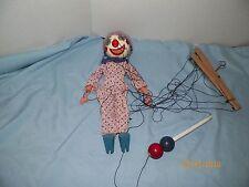 "Vintage 1948 Talentoy Talentoon 13"" Pim-Bo The Clown Marionette Doll"