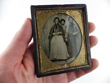 More details for victorian family~antique ambrotype/collodion photo~19th century clothing etc.