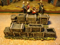 T2 Boxes, Barrels for Zulu War, Rourke's drift for 1.32 scale wargames scenery