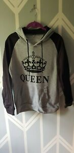 Queen Size XL/10-12 Grey And Black Hoodie