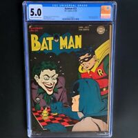 Batman #23 (1944) 💥 CGC 5.0 💥 Golden Age Joker Cover & Alfred Story! DC Comics