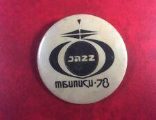 EXTREMELY RARE Button Badge Soviet Underground USSR JAZZ IN TBILISI GEORGIA' 78.