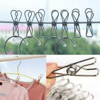 20pcs Stainless Steel Heavy Large Beach Towel Clips Clothes Pegs Pins Portable