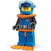 NEW LEGO 8683 Series 1 Deep Sea Diver Minifigure /  Rare Sealed