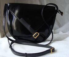 👜 élégant sac Delvaux, cuir noir vernis, sac de protection. Sac des fêtes !