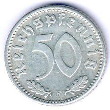III. Reich 50 Reichspfennig 1935 F. (Alu.) Jaeger 368, ss/vz