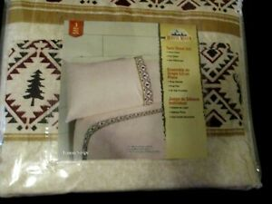3pc Twin Sheet Set Bedding Forest Tree Buck Deer Country Bass Pro Shop Cabella's