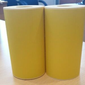 """4"""" x 6"""" Direct Thermal Yellow labels 19 mm core suitable for Mobile printers"""