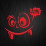 Buh Monster Booo Cartoon Comic Cute Spaß Rot Auto Vinyl Decal Sticker Aufkleber