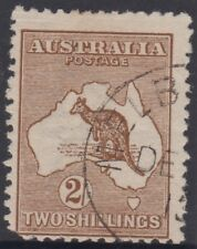 Kangaroo 2/- brown stamp 1st watermark cancelled to order cto with full gum