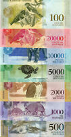 Venezuela (500, 1000 TO 100000) Bolivares set of 7 notes 2017 South America UNC.