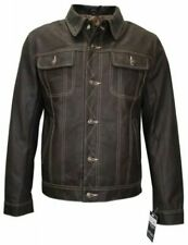 TRUCKER Men's 1280 Skipper Brown Leather Western Style Classic Fitted Jacket